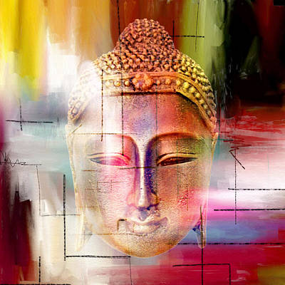 Buddha  4 Print by Mark Ashkenazi