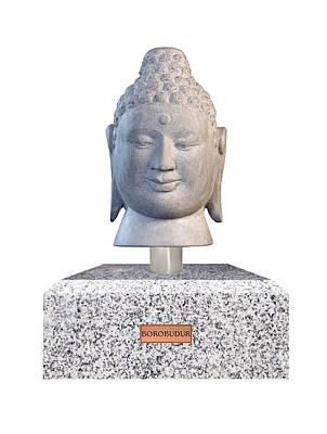 Buddha Sculpture - Buddha Bust - Borobudur F by Terrell Kaucher