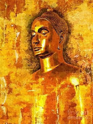 Statue Portrait Digital Art - Buddha Grace by Khalil Houri