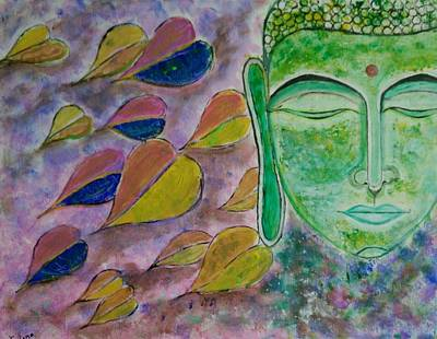 Buddha In Meditation  Print by Chetana Mantri