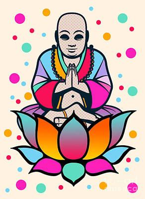 Buddha Print by Mark Ashkenazi