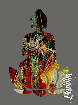 Yoga Mixed Media - Buddha by Marvin Blaine