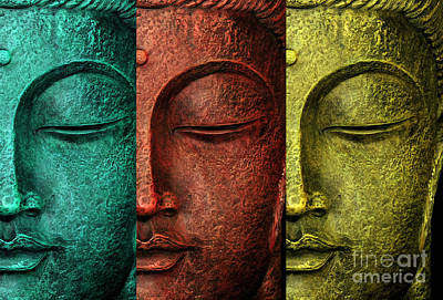 Statue Portrait Digital Art - Buddha Statue by Mark Ashkenazi