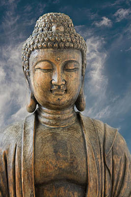 Photograph - Buddha With Clouds by Bernice Williams