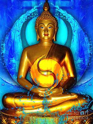 Deity Digital Art - Buddha Yin Yang by Khalil Houri