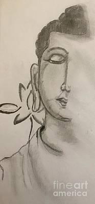 Buddham Print by Navroz Raje
