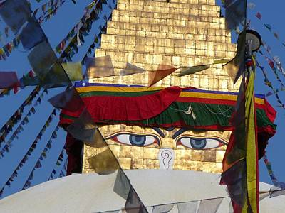 Buddha's  Eyes Print by Dagmar Ceki