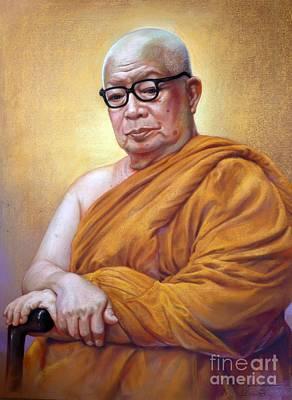 Thai Drawing - Buddhathas Pikku by Chonkhet Phanwichien