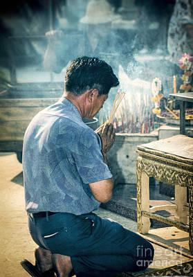 Photograph - Buddhist Way Of Praying by Heiko Koehrer-Wagner