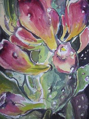 Budding Cactus In Spring IIi Print by Aleksandra Buha