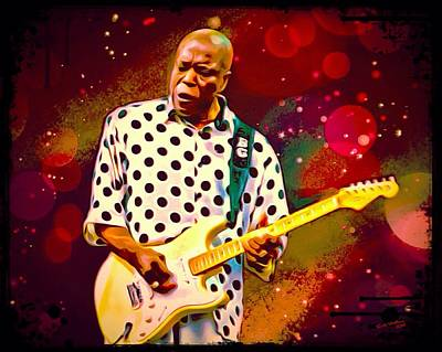 Jimmy Page Digital Art - Buddy Guy Portrait by Scott Wallace