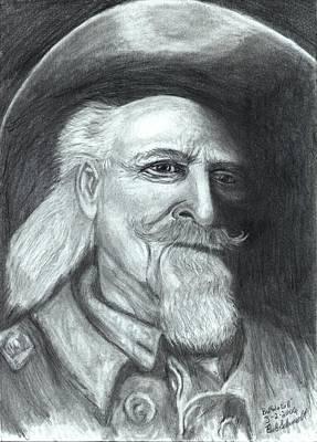 Kansas City Drawing - Buffalo Bill by Bob Schmidt