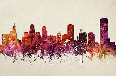 Buffalo Drawing - Buffalo Cityscape 09 by Aged Pixel