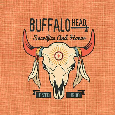 Buffalo Head Print by Brandi Fitzgerald