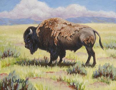 Raggedy Man Buffalo  Original by Linda Cruz