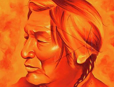 Chicano Art Painting - Buffalo Tracks by Robert Martinez