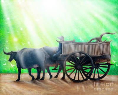 Painting - Buffalo Yoke by Fine art Photographs