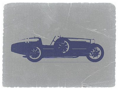 American Digital Art - Bugatti Type 35 by Naxart Studio