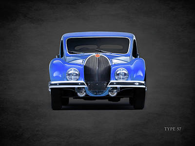 Bugatti Vintage Car Photograph - Bugatti Type 57 by Mark Rogan