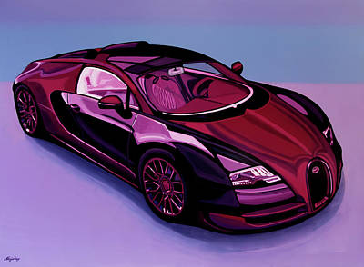 Four Painting - Bugatti Veyron 2005 Painting by Paul Meijering