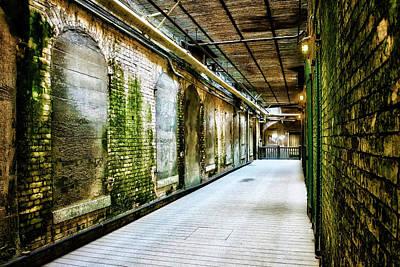 Alcatraz Photograph - Building 64 Interior Hallway - Alcatraz Island by Jennifer Rondinelli Reilly