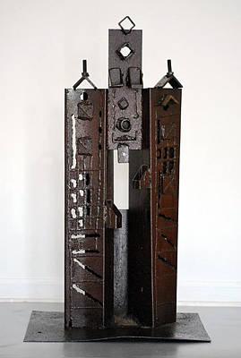 Sculpture - Buildings 5 by Don Thibodeaux