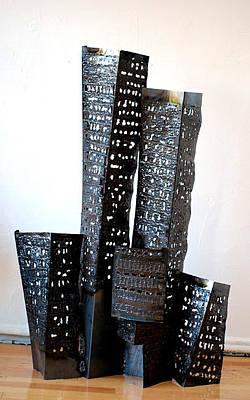 Sculpture - Buildings 6 by Don Thibodeaux