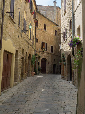 Buildings Along Side Street, Volterra Print by Panoramic Images
