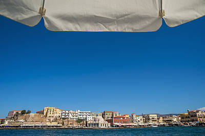 Buildings Along The Harbour  Chania Print by Dosfotos