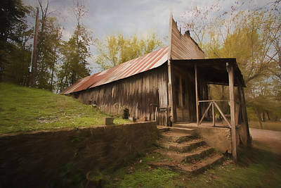 Grist Mill Photograph - Built In The Berm by Jonas Wingfield