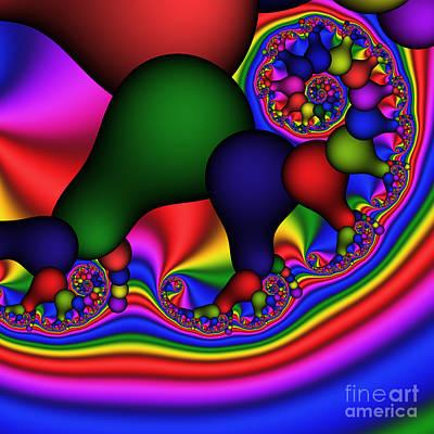 Bulb Spiral 197 Print by Rolf Bertram