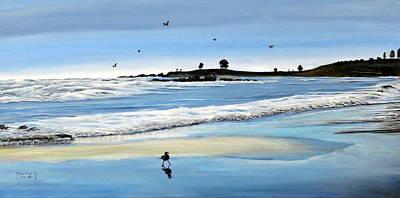 Bull Beach 2 Print by Marilyn McNish