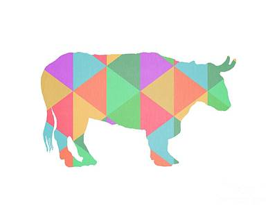 Poster From Digital Art - Bull Cow Triangles by Edward Fielding