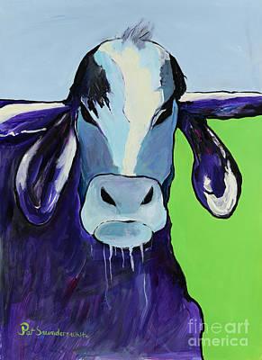 Bull Drool Print by Pat Saunders-White