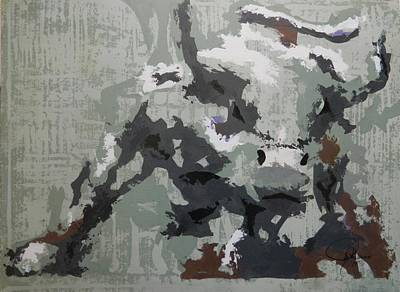 Pallet Knife Painting - Bull Market G by John Henne