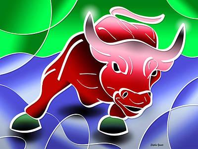 Financial Digital Art - Bull Market by Stephen Younts