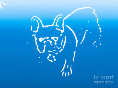 Abstract Photograph - Bulldog In Blue by Heather Joyce Morrill