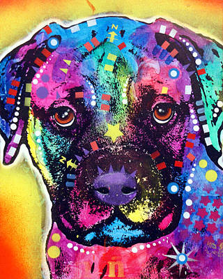 Bullie Painting - Bullmastiff Pup by Dean Russo