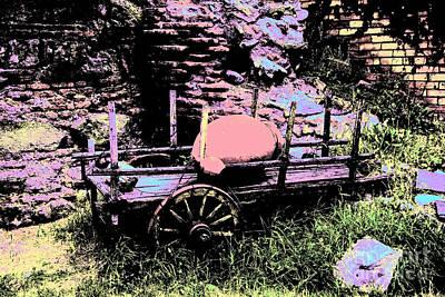 Bullock-cart Original by Lali Kacharava