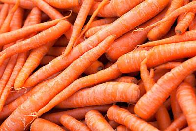 Bunch Of Carrots Print by Todd Klassy