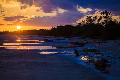 Beach Photograph - Bunche Beach Low Tide by J Darrell Hutto