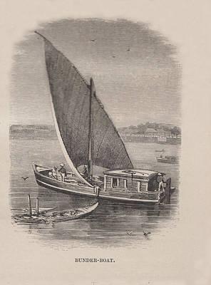 Bunder Boat Original by Angela Lautin