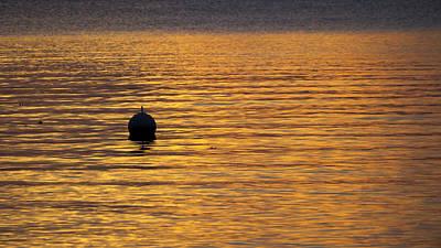 Buoy Sunset - Madison - Wisconsin Print by Steven Ralser