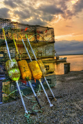 Hamptons Photograph - Buoys And Lobster Traps At Sunset by Joann Vitali