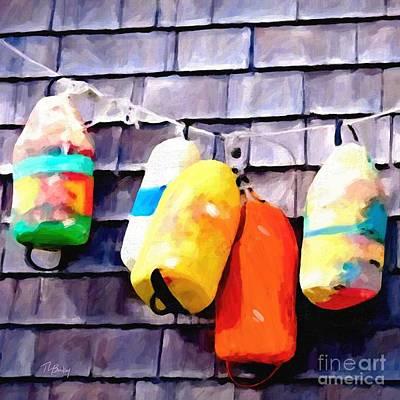 Painting - Buoys by Tammy Lee Bradley