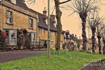 High Street Photograph - Burford Cotswolds by Jasna Buncic