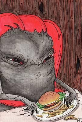 Hamburger Painting - Burger Meister by Julie McDoniel