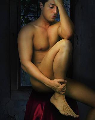 Male Digital Art - Burgundy by Mark Ashkenazi