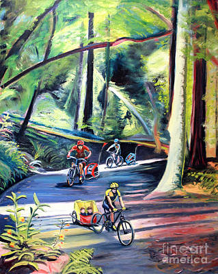 Burley Bike Parade On Shaver Grade Print by Colleen Proppe