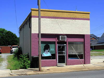 Burlington North Carolina - Small Town Business Print by Frank Romeo
